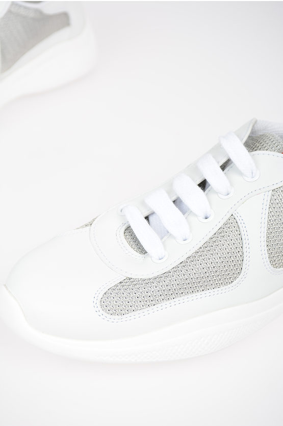 LINEA ROSSA Metallic Mesh and Leather Sneakers