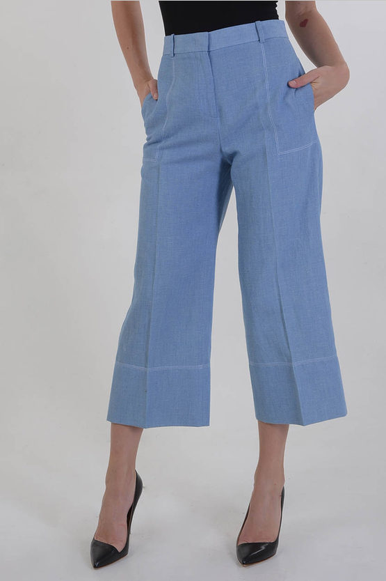 Linen and Cotton Capri Pants