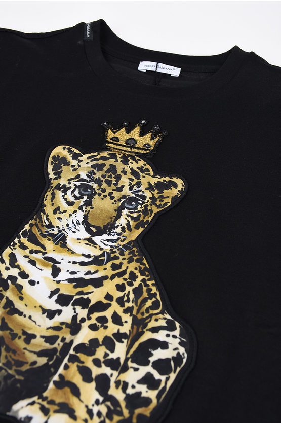 Lion Embroidered T-shirt