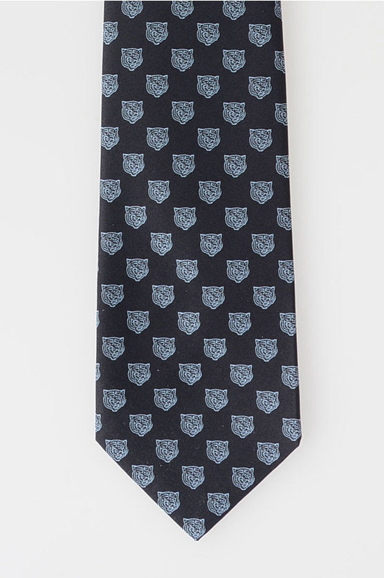 Lion Embroidered Tie