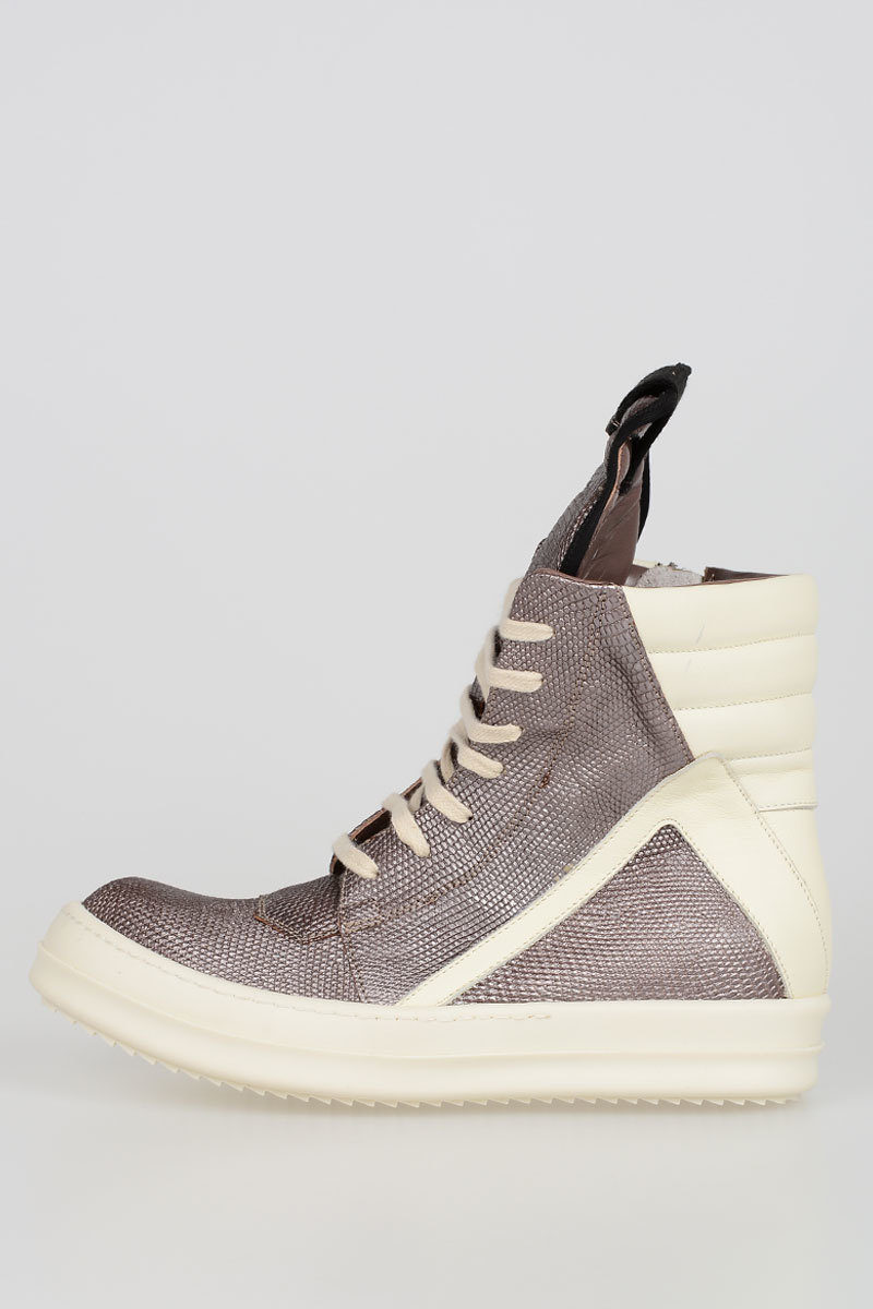 Comfortable Best Seller Lizard Skin GEOBASKET Sneakers Spring/summer Rick Owens Discount Low Shipping With Credit Card Free Shipping wtIKXB7