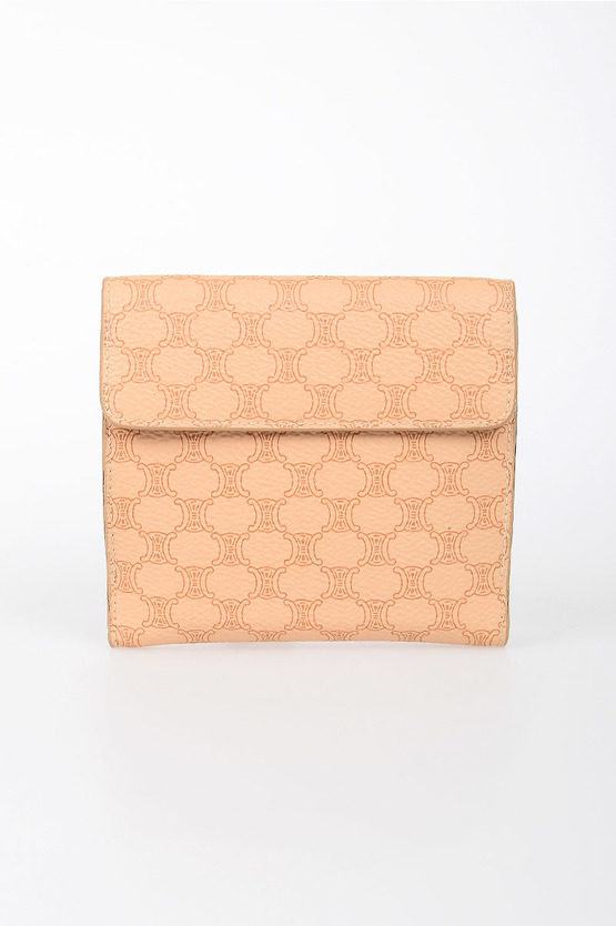 Logo Printed Fabric & Leather Wallet