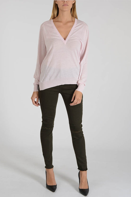 Merino Wool V Neck Sweater