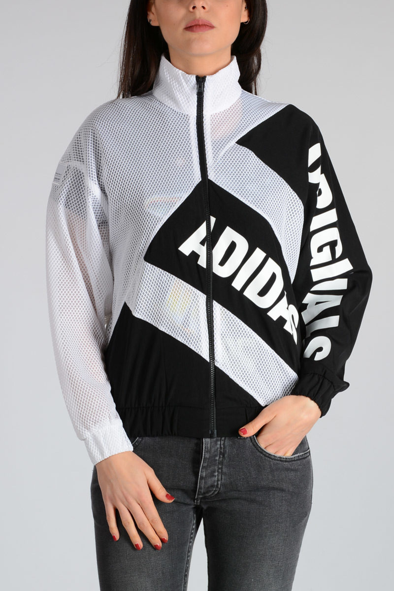 ADIDAS ORIGINALS MESH TRACKTOP Sweatshirt White women 100