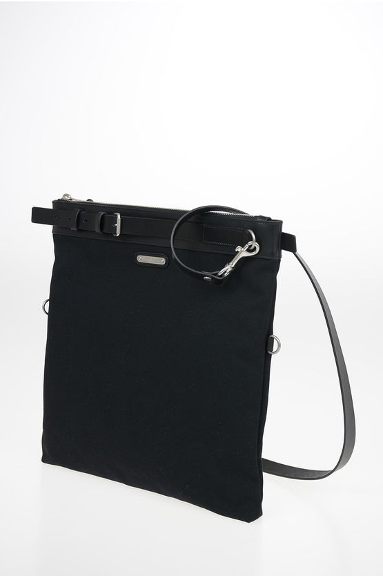 Messanger Bag with Leather Trimmings and Removable Shoulder Strap