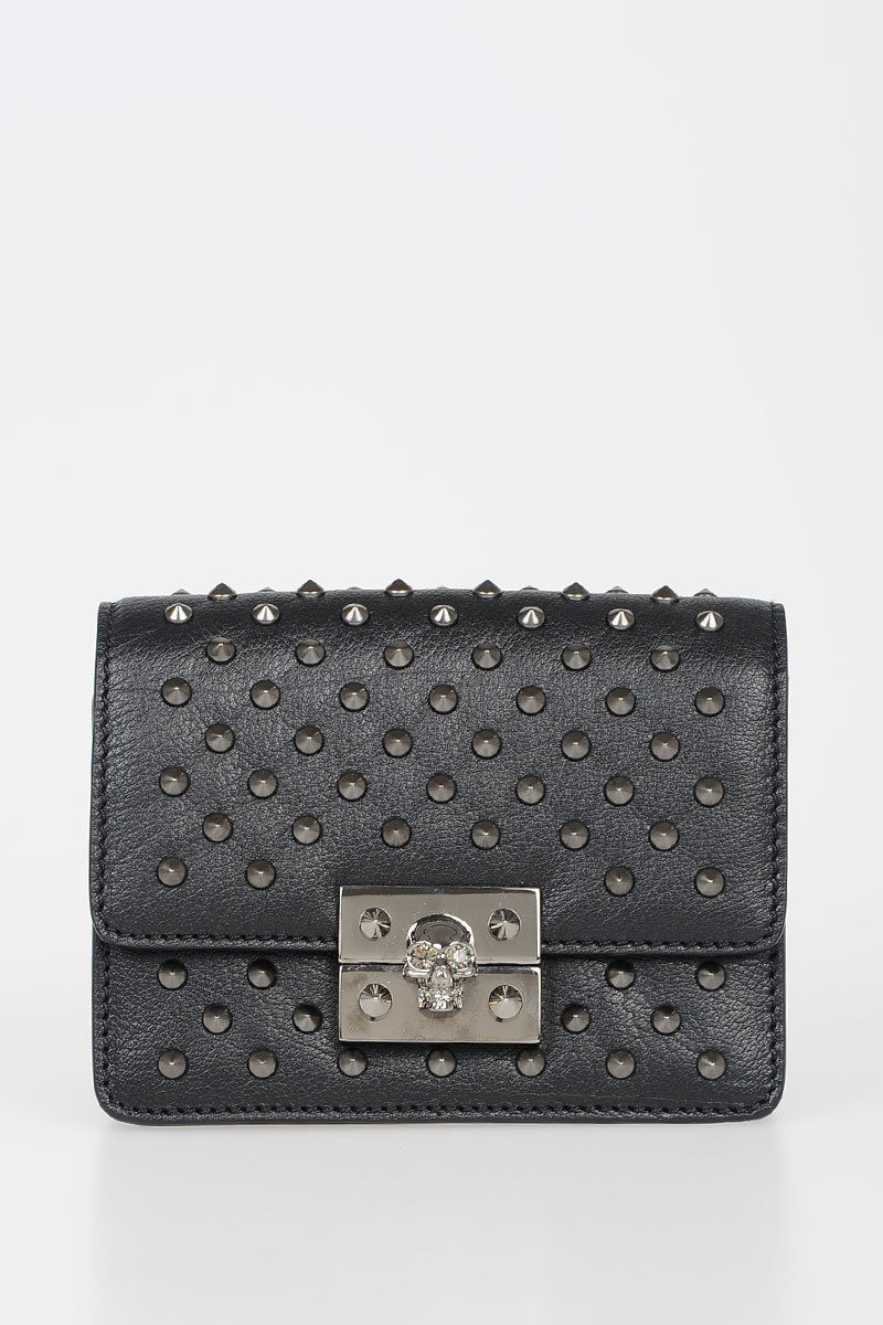 f164751c579 Alexander McQueen Mini Leather Studded Bag women - Glamood Outlet