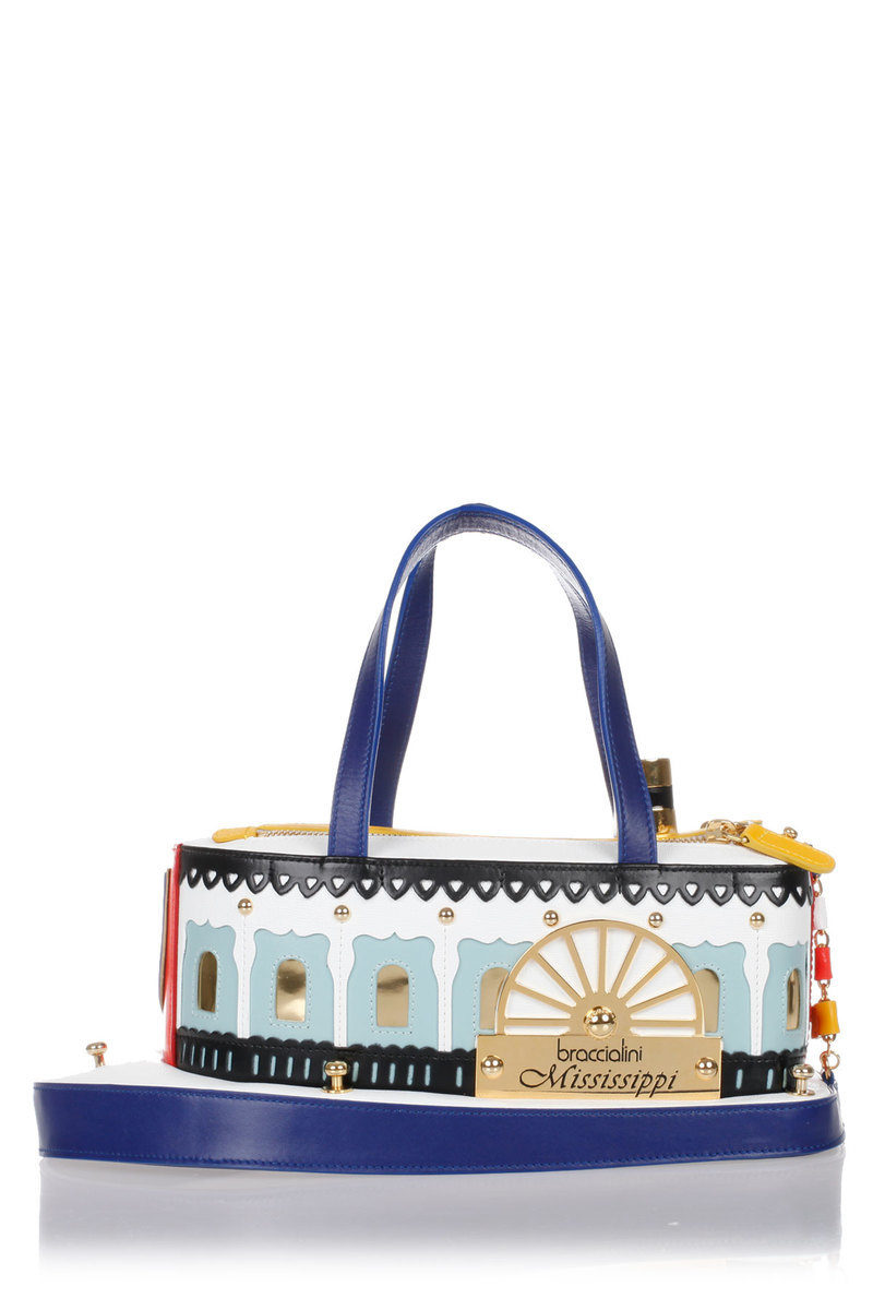 4a006701b1 Braccialini MISSISSIPPI BOAT TEMI Leather Handbag women - Glamood Outlet