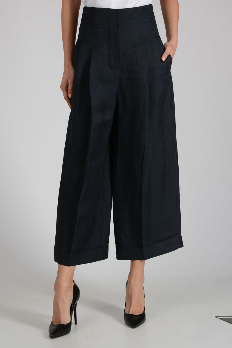 a1bbca65cb Celine Mixed Linen Capri Pants women - Glamood Outlet