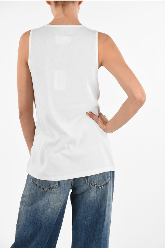 MM0 Sleeveless Top with Jewels