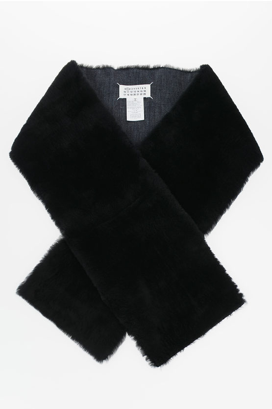 MM1 Denim and Real Fur Scarf
