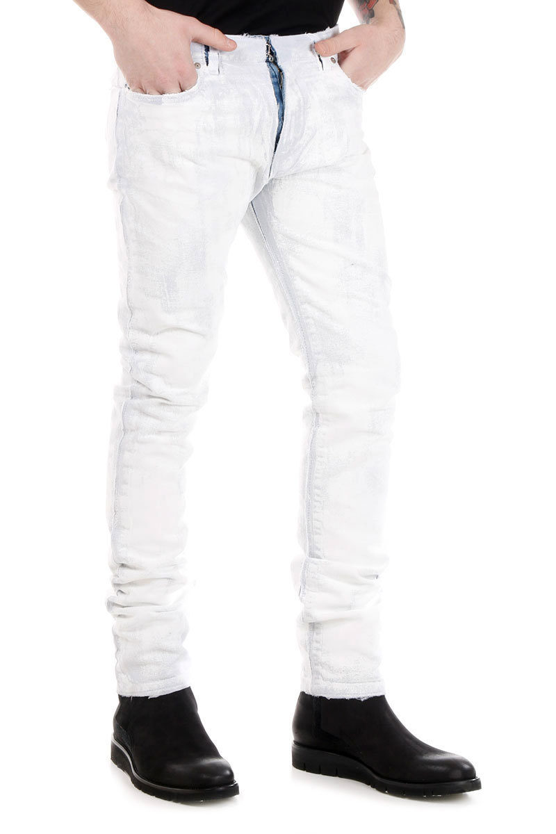 MM10 18 cm Painted Denim Jeans Spring/summer Maison Martin Margiela