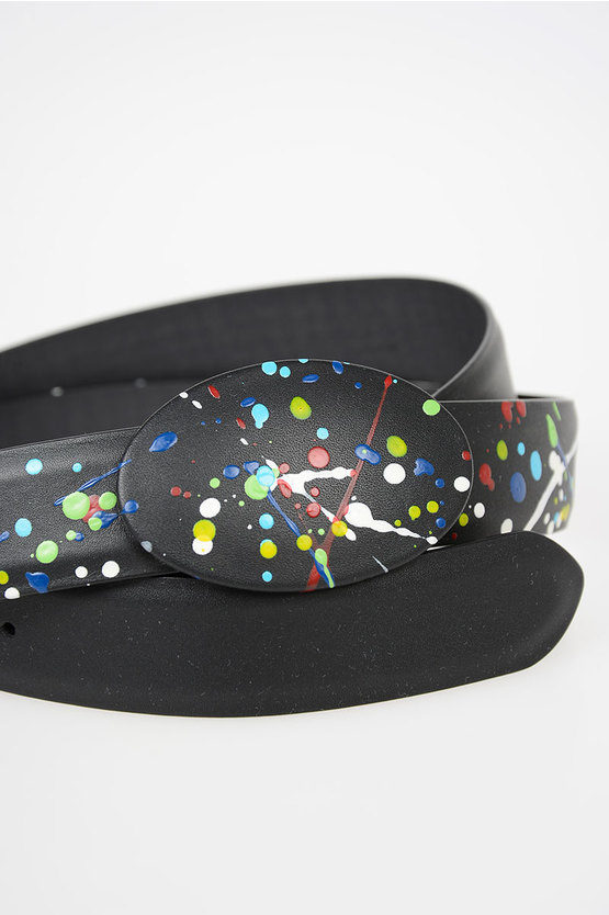MM11 30mm Leather Printed Belt