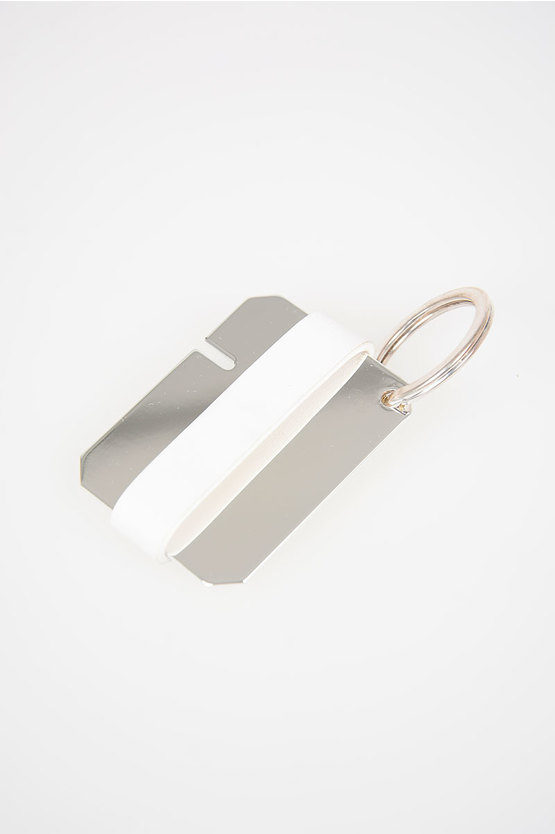 MM11 Brass and Leather Key Ring