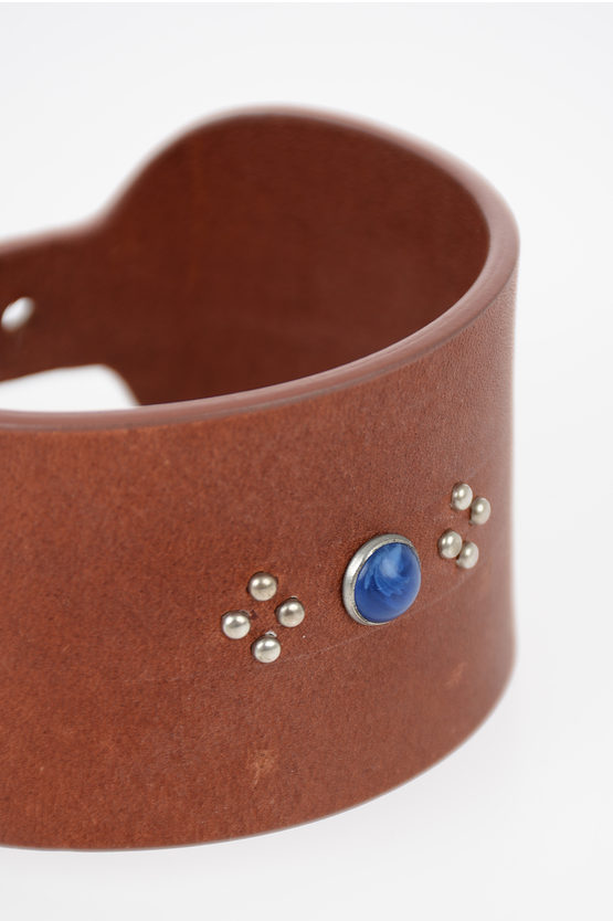 MM11 Leather Bracelet with Pearl