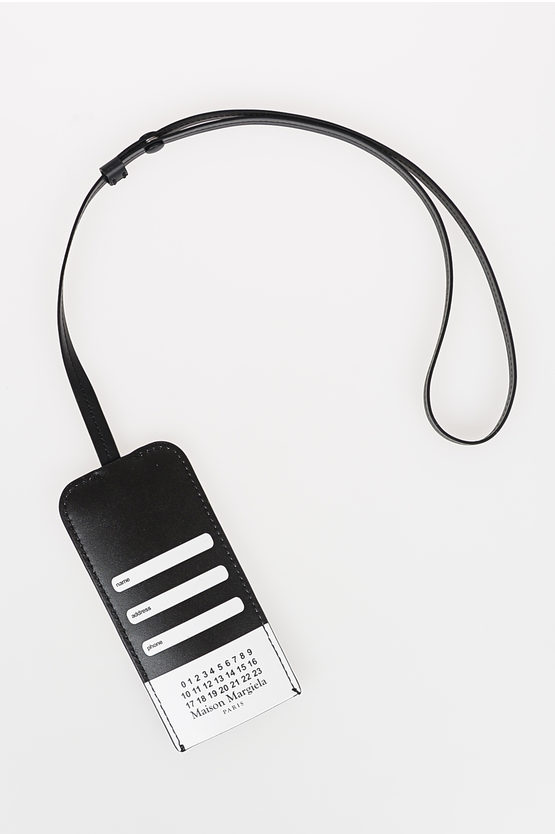 MM11 Leather Printed Necklace Key Ring