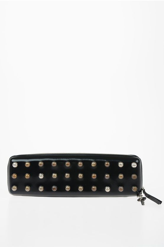 MM11 Leather Studs Pochette Bag