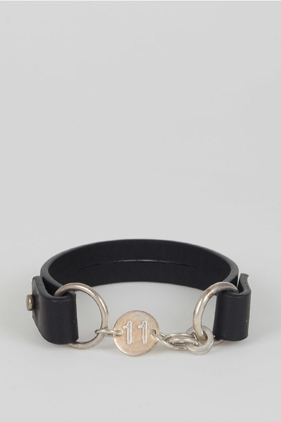 MM11 Silver And Leather Bracelet