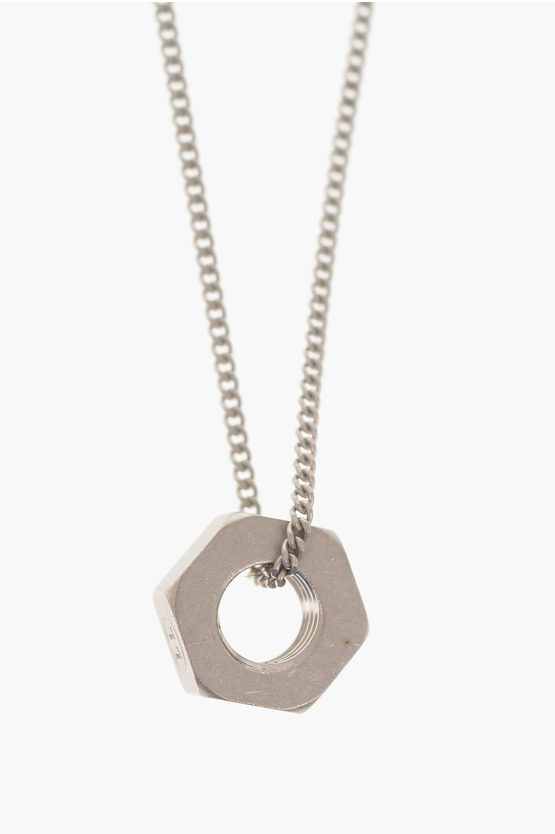 MM11 Silver Necklace with charm