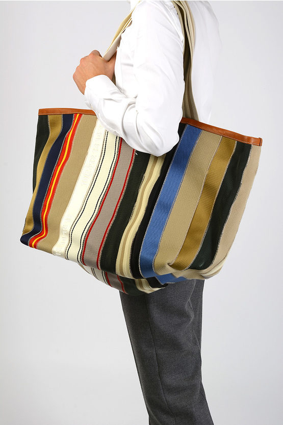 MM11 Striped Fabric Bag