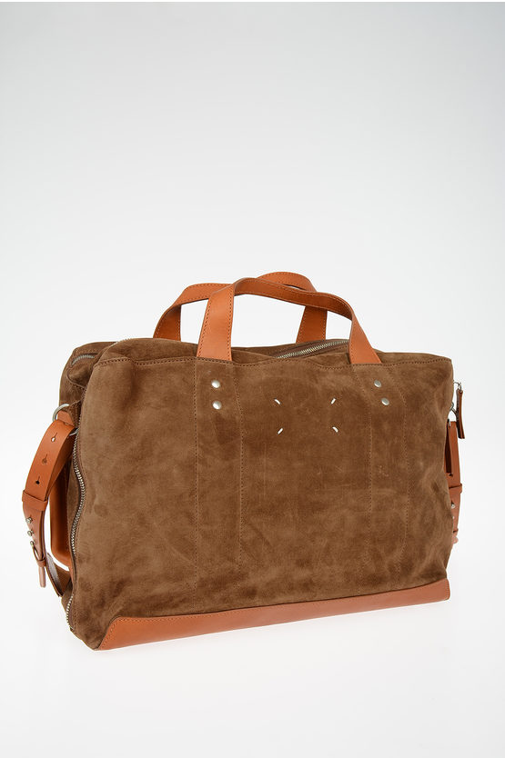 MM11 Suede Leather Weekend Duffle Bag