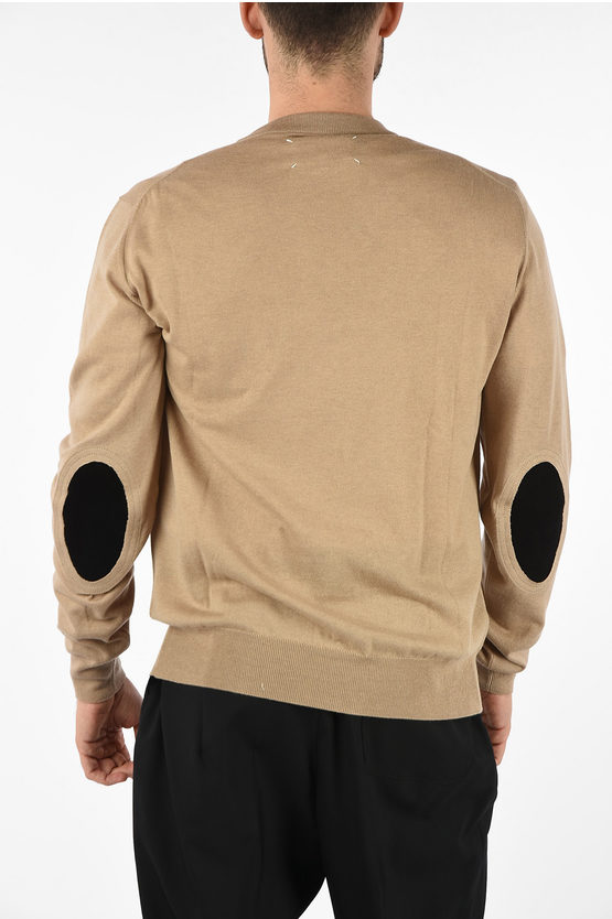 MM14 Sweater with Leather Details