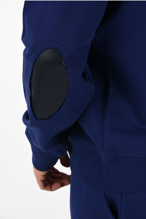 MM14 Sweatshirt with Leather Details