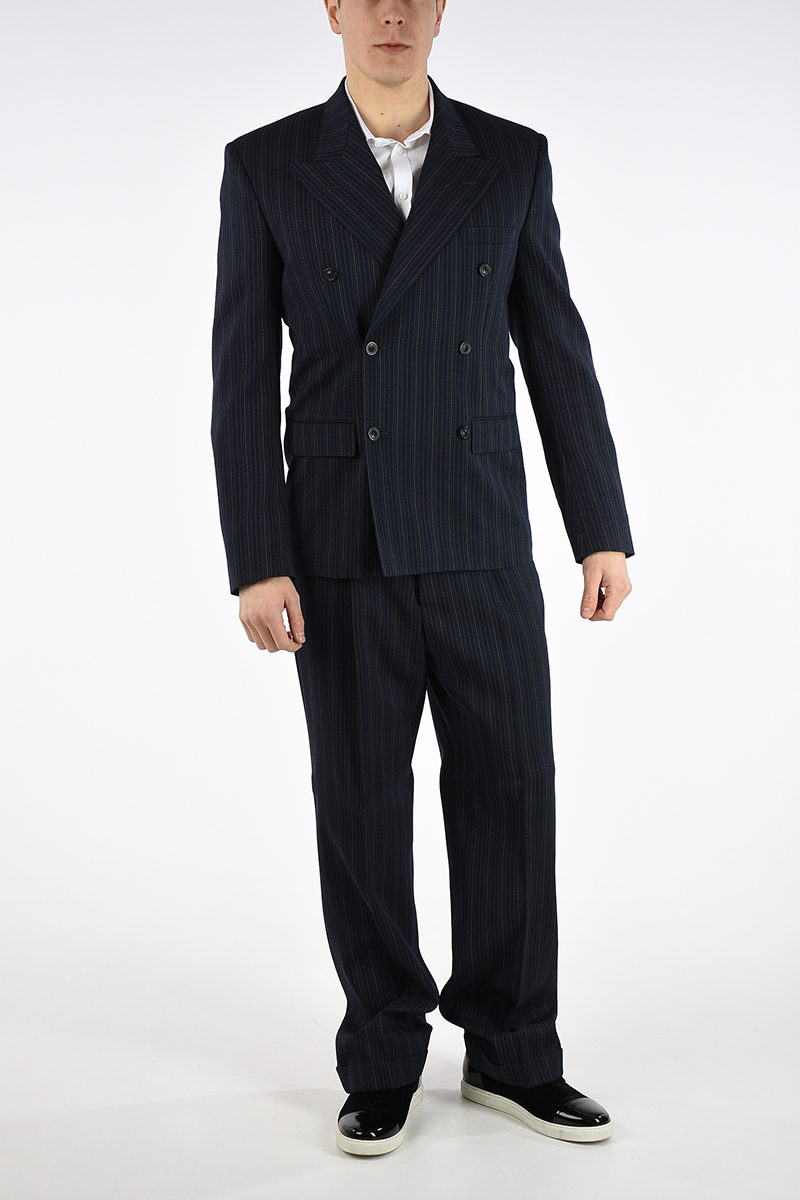 Double Margiela Breasted Virgin Mm14 Maison Wool Blend Men Suit qXp4dwR