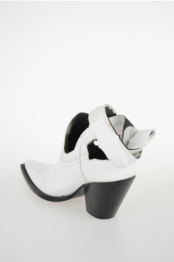 """MM22 9cm Leather """"RANCHERO"""" Ankle Boot"""