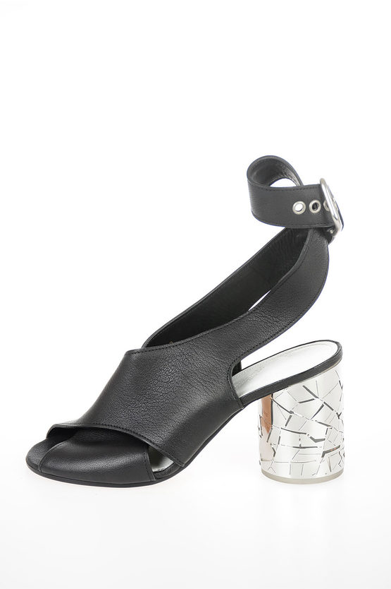 MM22 9cm Leather Sandals