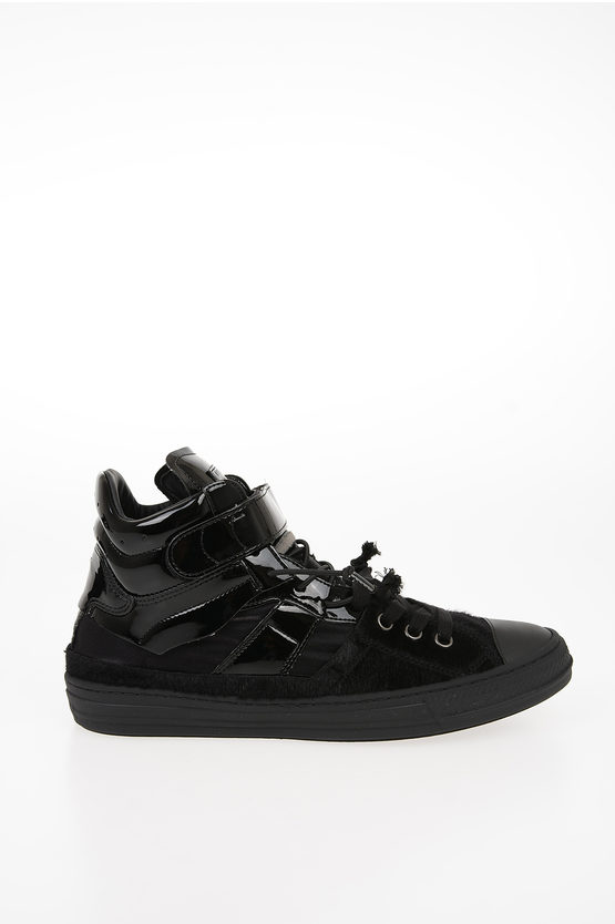 MM22 Faux Leather Details EVOLUTION High-Top Sneakers