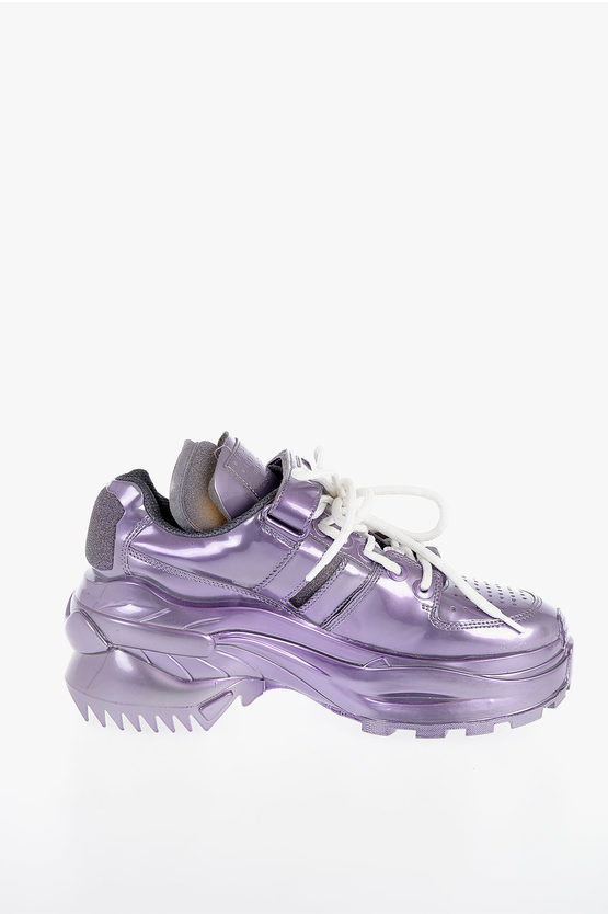 MM22 Faux Leather Sneakers