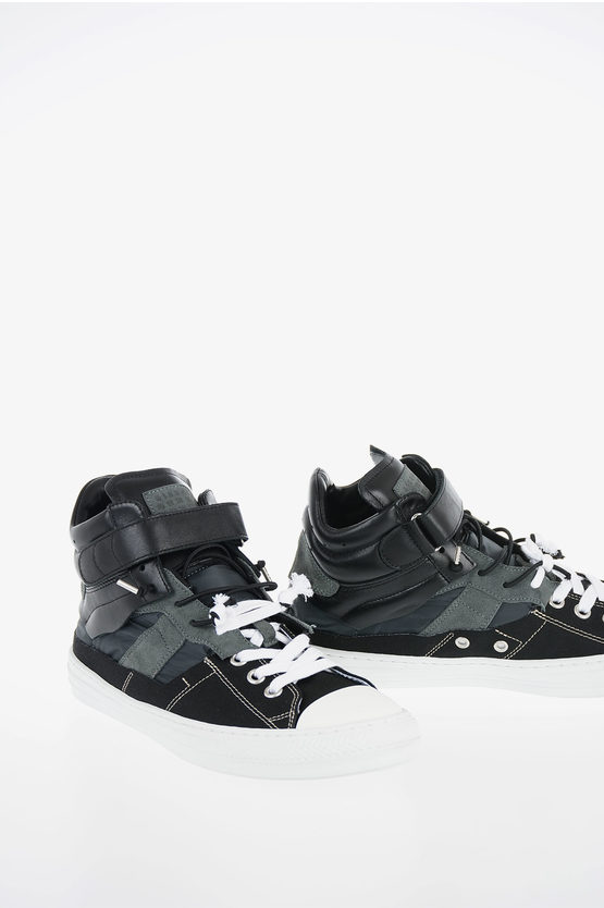 """MM22 Leather and Fabric """"EVOLUTION"""" Sneakers"""