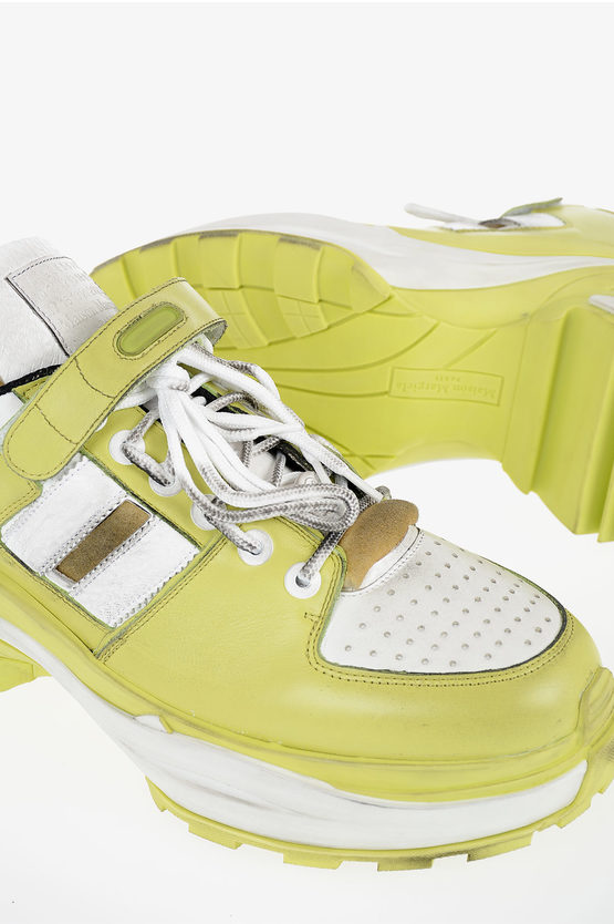 """MM22 Leather """"ARTISANAL"""" Sneakers"""