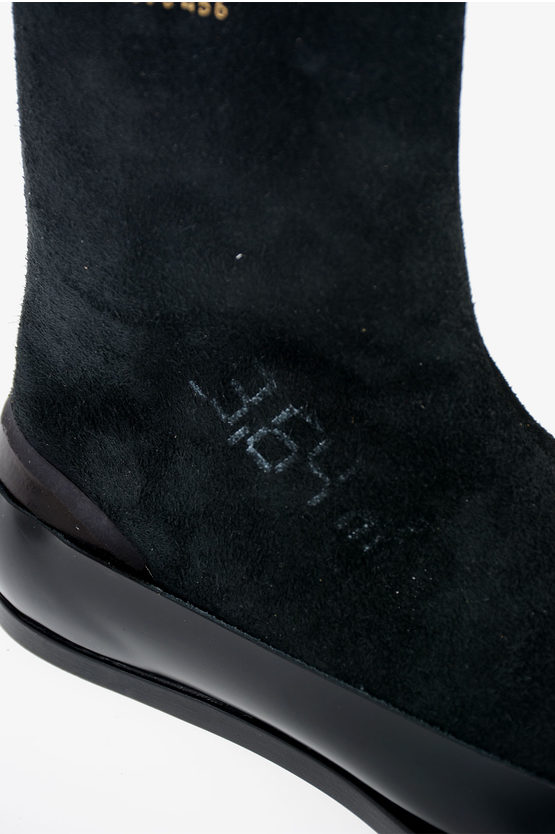 "MM22 Leather ""DECORTIQUE"" Ankle Boots"