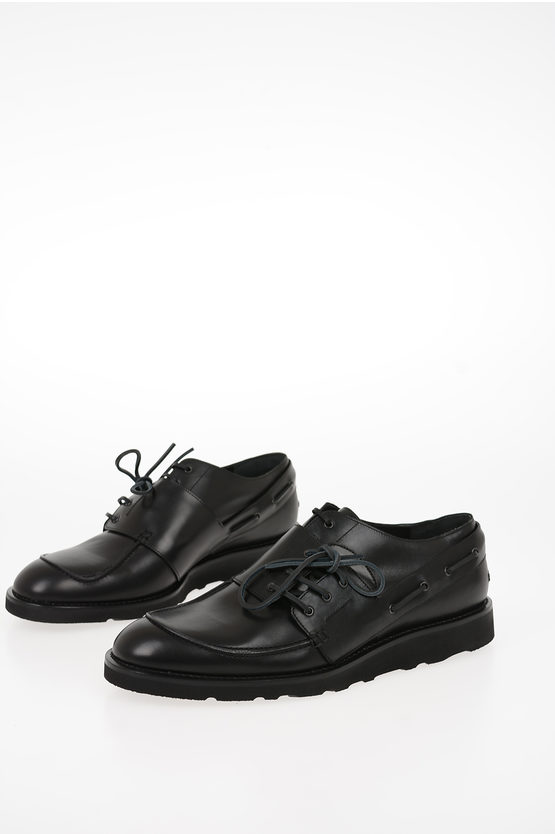 MM22 Leather Double Laces Derby Shoes