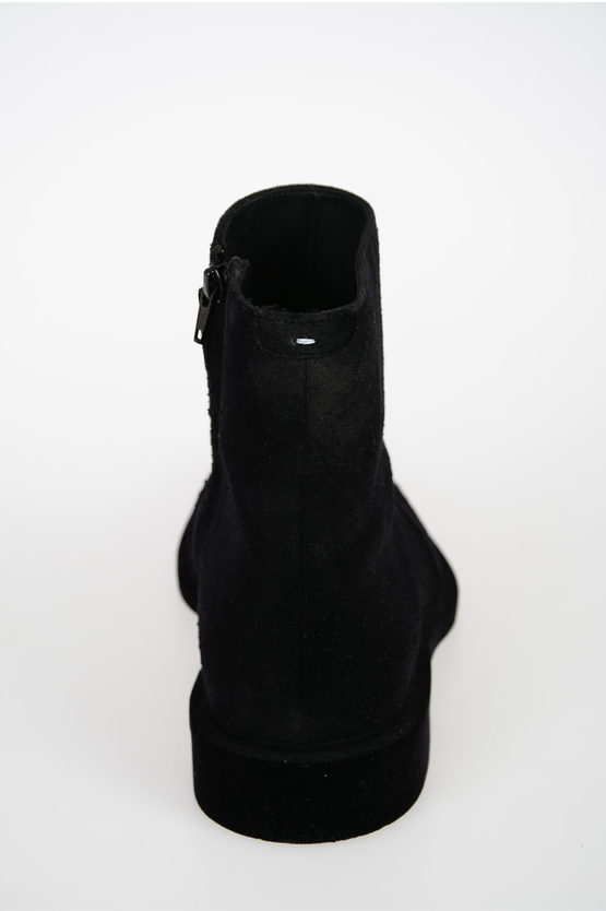 MM22 Leather FLOCK Ankle Bootss