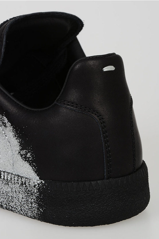 MM22 Leather Glitter Sneakers