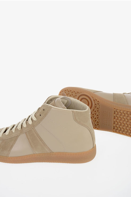 MM22 Leather High Sneakers