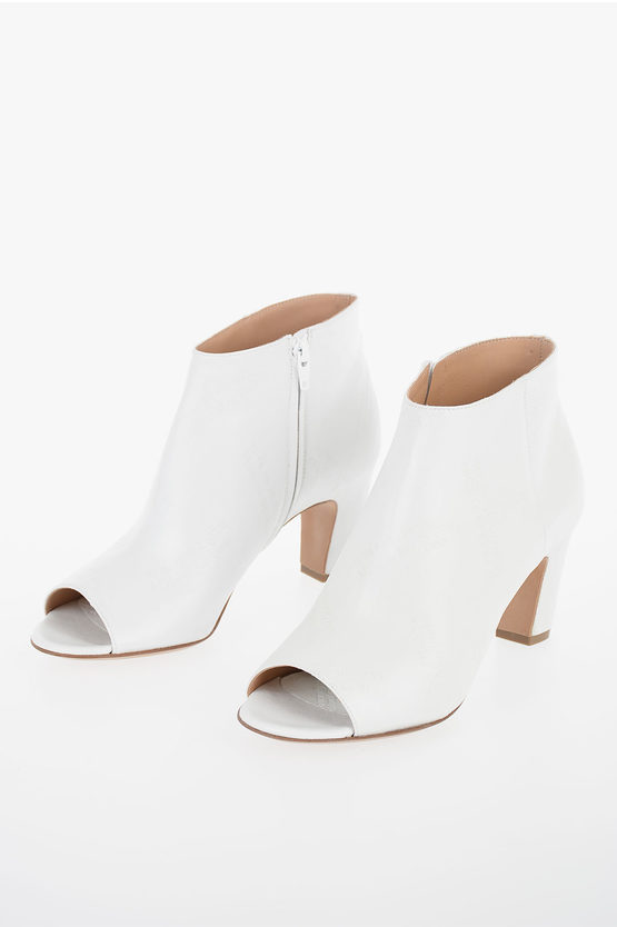 MM22 Leather Printed Open Toe