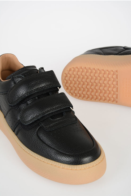 MM22 Leather Sneakers With Platform