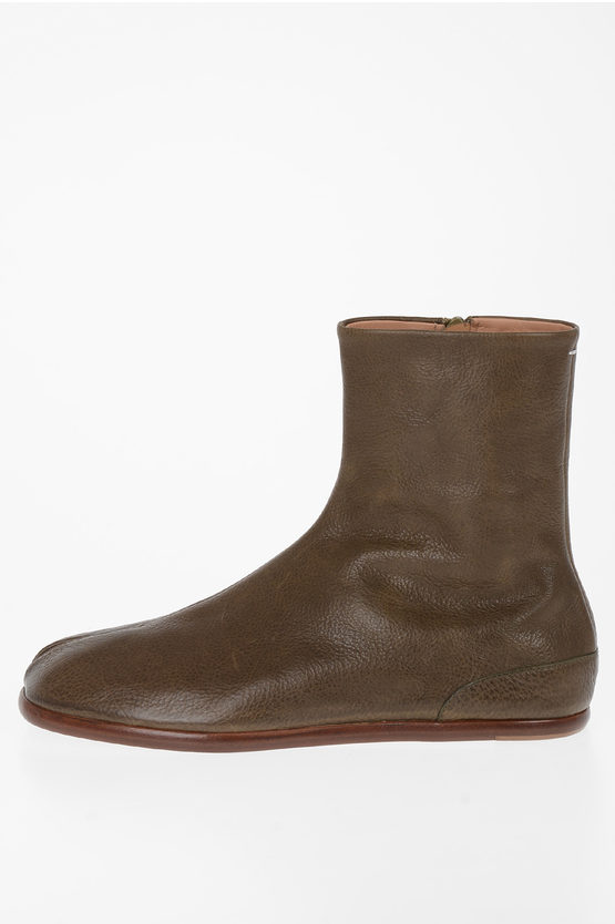 MM22 Leather TABI Ankle Boot