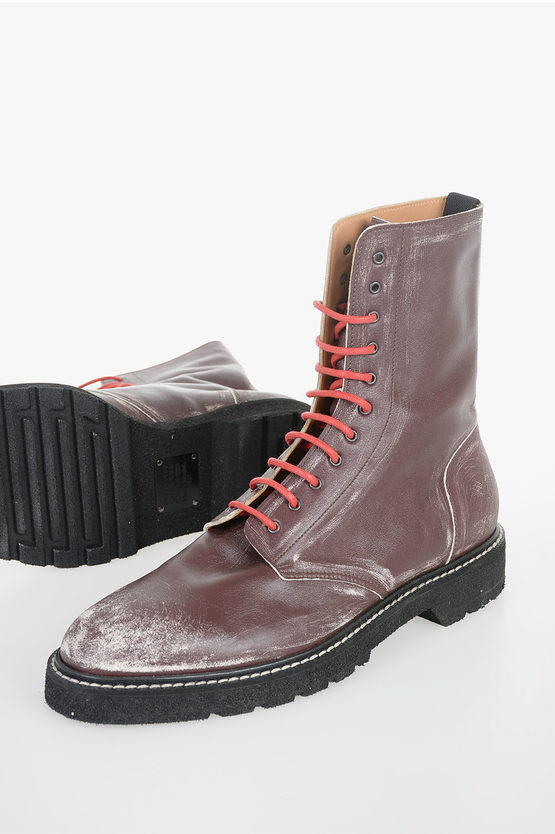 MM22 Leather Vintage Effect Boots