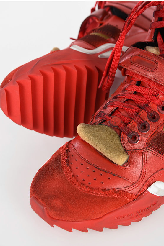 MM22 Leather Vintage Effect Sneakers