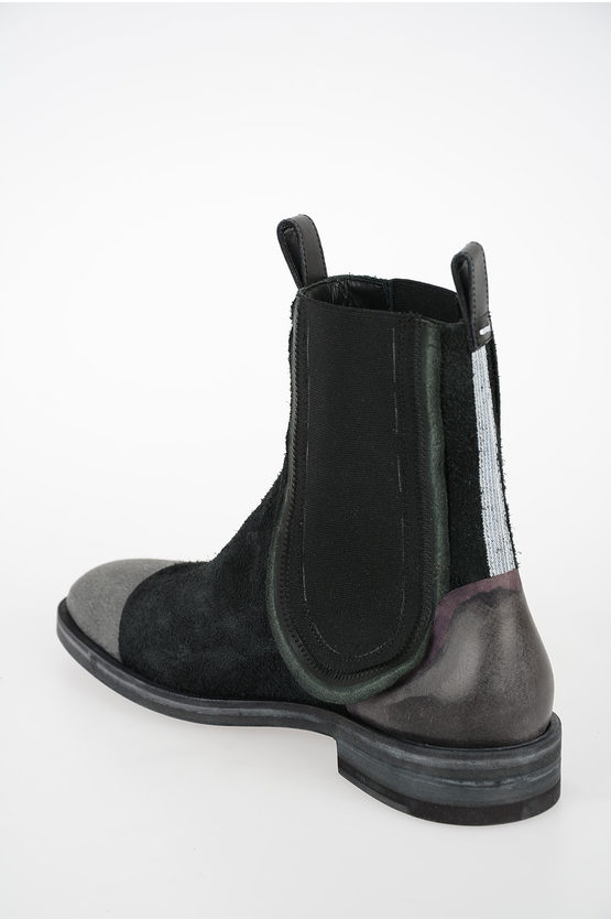 MM22 Suede Leather Ankle Boots