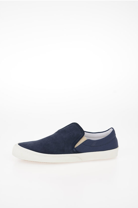 MM22 Suede Leather Two-Tone HURRICANE Slip On Sneakers