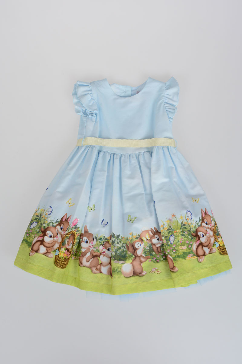 new concept 76244 be422 MONNALISA BEBÈ Dress with Tulle Flowers and Puppets