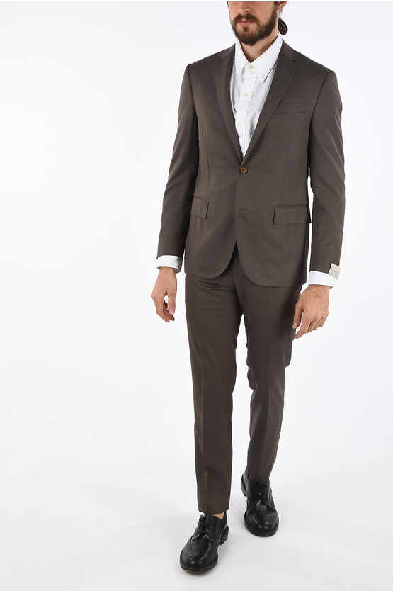 notch lapel hairline striped ACADEMY SOFT 2-button suit