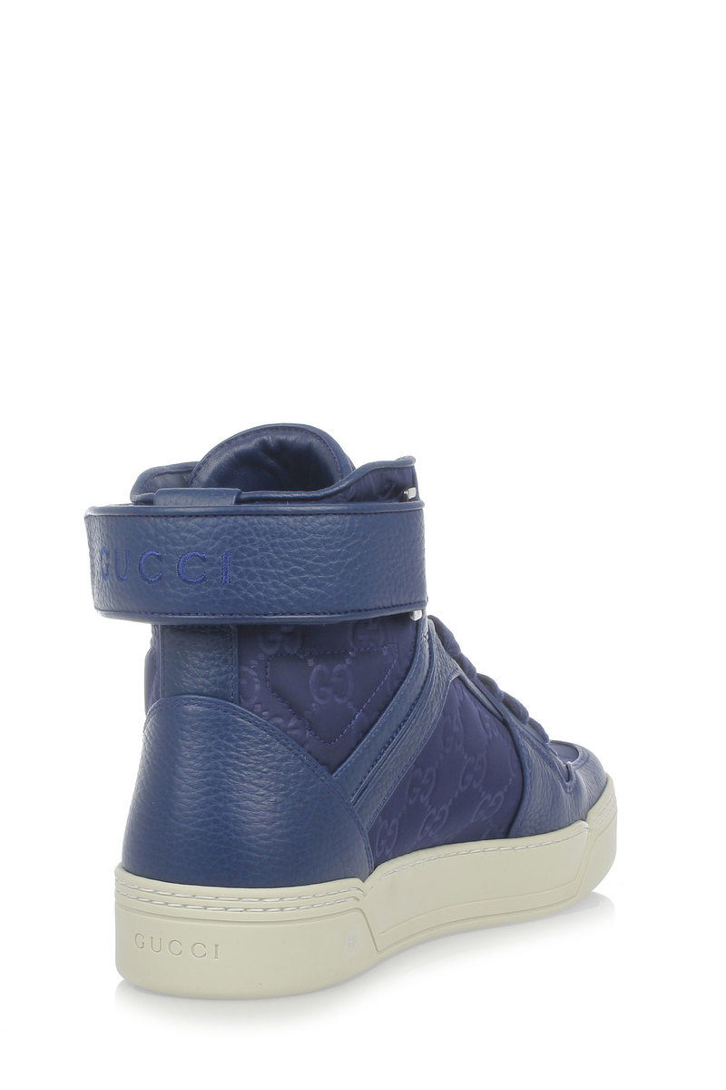 f3f91284f1 Gucci Nylon GUCCISSIMA High top Sneakers men - Glamood Outlet