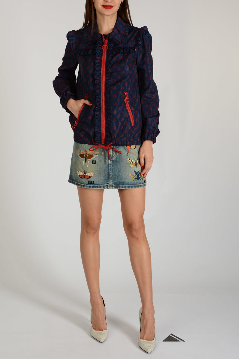 a2c2b2316 Gucci Nylon Jacket with Curling women - Glamood Outlet