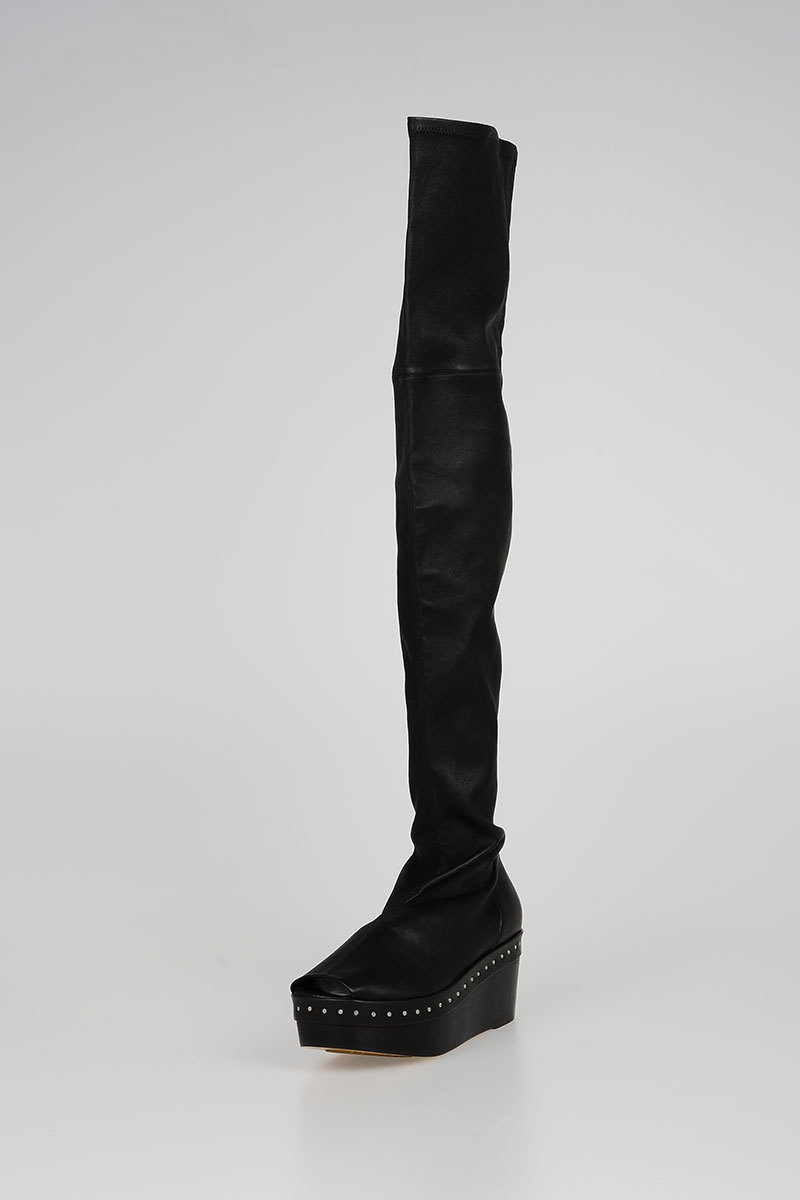 Open Toe BLACK THIGH HIGH SCUBA SABOT Boots Spring/summer Rick Owens Discount Sale Online Outlet Geniue Stockist Cheap Sale Buy How Much oLZB2eDAB7